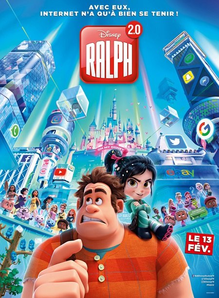 ralph 2 0_john c reilly_sarah silverman_rich moore_phil johnston_affiche_poster
