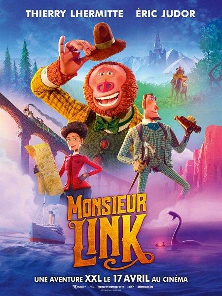 monsieur link_missing link_thierry lhermitte_eric judor_chris butler_laika_affiche_poster