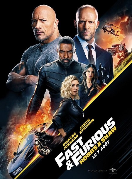 fast & furious hobbs and shaw_dwayne johnson_jason statham_david leitch_affiche_poster