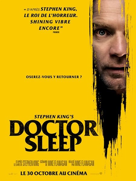 doctor sleep_ewan mcgregor_rebecca ferguson_mike flanagan_stephen king_affiche_poster